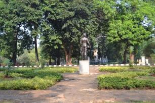 Statue og springvand