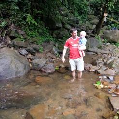 Eneste vej videre fra de første vandfald